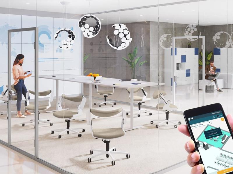 اتاق جلسات هوشمند در محیط کاری هوشمند سازی شده