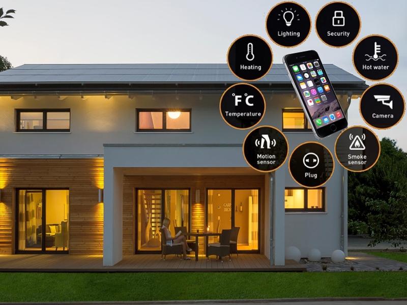 کنترل لوازم برقی و روشنایی ویلای هوشمند