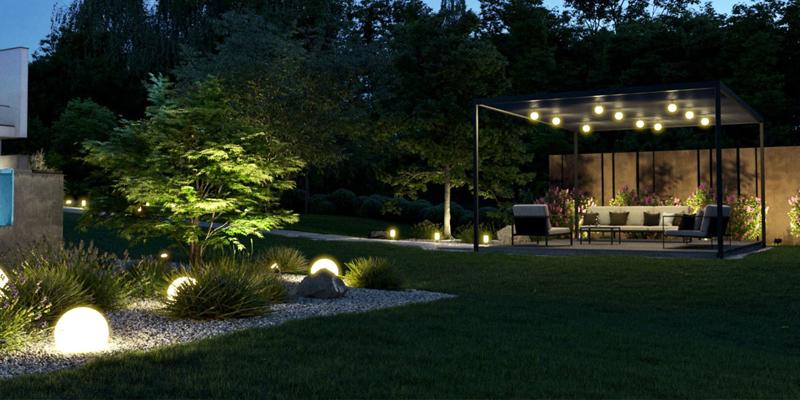 استفاده از سیستم روشنایی هوشمند برای باغها و محیطهای بیرونی